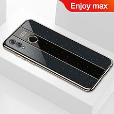 Huawei Enjoy Max用ハイブリットバンパーケース プラスチック 鏡面 カバー M01 ファーウェイ ブラック