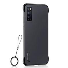 Huawei Enjoy Z 5G用ハードカバー クリスタル クリア透明 H02 ファーウェイ ブラック