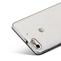 Huawei G Play Mini用極薄ソフトケース シリコンケース 耐衝撃 全面保護 クリア透明 ファーウェイ グレー