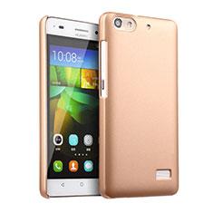 Huawei G Play Mini用ハードケース プラスチック 質感もマット ファーウェイ ゴールド
