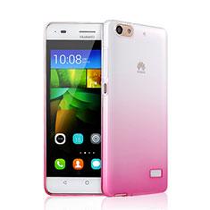 Huawei G Play Mini用極薄ソフトケース グラデーション 勾配色 クリア透明 ファーウェイ ピンク