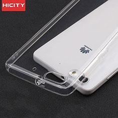 Huawei G Play Mini用極薄ソフトケース シリコンケース 耐衝撃 全面保護 クリア透明 T02 ファーウェイ クリア