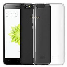 Huawei G Play Mini用極薄ソフトケース シリコンケース 耐衝撃 全面保護 クリア透明 T03 ファーウェイ クリア