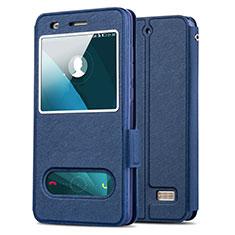 Huawei G Play Mini用手帳型 レザーケース スタンド ファーウェイ ネイビー