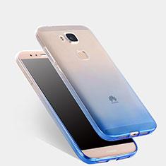 Huawei G7 Plus用極薄ソフトケース グラデーション 勾配色 クリア透明 ファーウェイ ネイビー