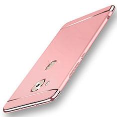 Huawei G7 Plus用ケース 高級感 手触り良い メタル兼プラスチック バンパー M01 ファーウェイ ローズゴールド