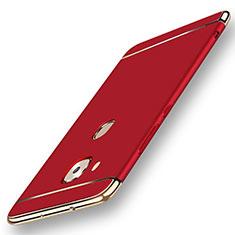 Huawei G7 Plus用ケース 高級感 手触り良い メタル兼プラスチック バンパー M01 ファーウェイ レッド