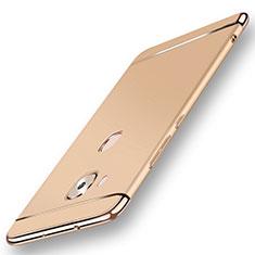 Huawei G7 Plus用ケース 高級感 手触り良い メタル兼プラスチック バンパー M01 ファーウェイ ゴールド
