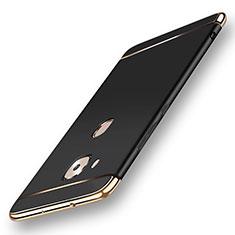 Huawei G7 Plus用ケース 高級感 手触り良い メタル兼プラスチック バンパー M01 ファーウェイ ブラック
