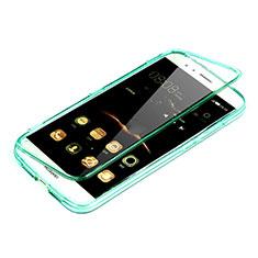 Huawei G8用ソフトケース フルカバー クリア透明 ファーウェイ グリーン