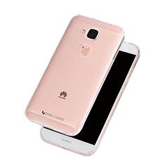 Huawei G8用ソフトケース シリコンケース 耐衝撃 全面保護 クリア透明 ファーウェイ クリア