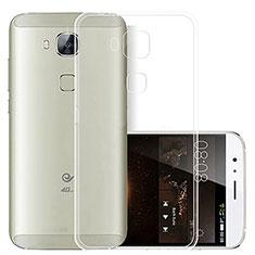Huawei G8用極薄ソフトケース シリコンケース 耐衝撃 全面保護 クリア透明 T03 ファーウェイ クリア