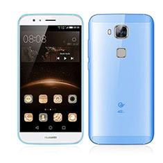 Huawei G8用極薄ケース クリア透明 プラスチック ファーウェイ ネイビー