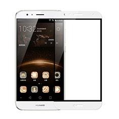 Huawei G8用強化ガラス フル液晶保護フィルム F02 ファーウェイ ホワイト