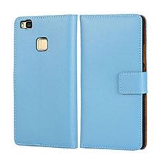 Huawei G9 Lite用手帳型 レザーケース ファーウェイ ブルー