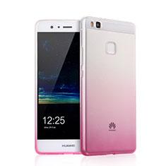 Huawei G9 Lite用極薄ソフトケース グラデーション 勾配色 クリア透明 ファーウェイ ピンク