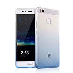 Huawei G9 Lite用極薄ソフトケース グラデーション 勾配色 クリア透明 ファーウェイ ブラック