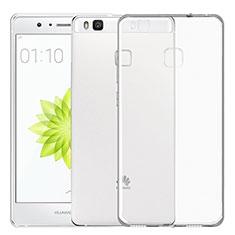 Huawei G9 Lite用極薄ソフトケース シリコンケース 耐衝撃 全面保護 クリア透明 T02 ファーウェイ クリア