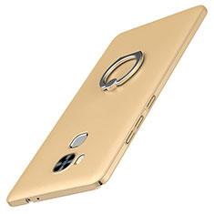 Huawei G9 Plus用ハードケース プラスチック 質感もマット アンド指輪 A01 ファーウェイ ゴールド