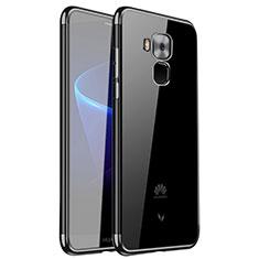 Huawei G9 Plus用極薄ソフトケース シリコンケース 耐衝撃 全面保護 クリア透明 H01 ファーウェイ ブラック