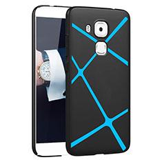 Huawei G9 Plus用ハードケース プラスチック ライン ファーウェイ ブラック