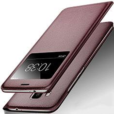 Huawei G9 Plus用手帳型 レザーケース スタンド ファーウェイ ブラウン
