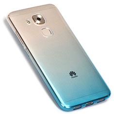 Huawei G9 Plus用極薄ソフトケース グラデーション 勾配色 クリア透明 G01 ファーウェイ ネイビー