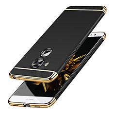 Huawei G9 Plus用ケース 高級感 手触り良い メタル兼プラスチック バンパー M01 ファーウェイ ブラック