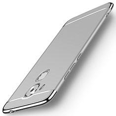 Huawei G9 Plus用ケース 高級感 手触り良い メタル兼プラスチック バンパー M01 ファーウェイ シルバー