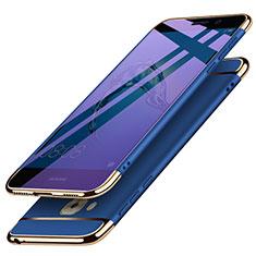Huawei G9 Plus用ケース 高級感 手触り良い メタル兼プラスチック バンパー M02 ファーウェイ ネイビー