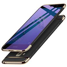 Huawei G9 Plus用ケース 高級感 手触り良い メタル兼プラスチック バンパー M02 ファーウェイ ブラック