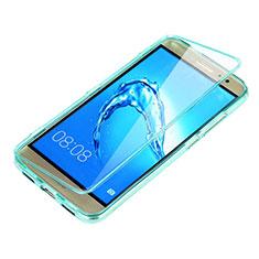 Huawei G9 Plus用ソフトケース フルカバー クリア透明 ファーウェイ ブルー