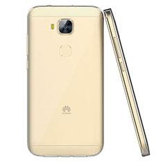 Huawei G9 Plus用極薄ソフトケース シリコンケース 耐衝撃 全面保護 クリア透明 T04 ファーウェイ クリア