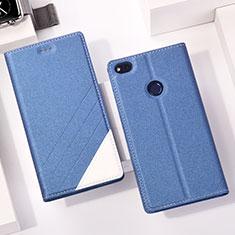 Huawei GR3 (2017)用手帳型 レザーケース スタンド L01 ファーウェイ ネイビー