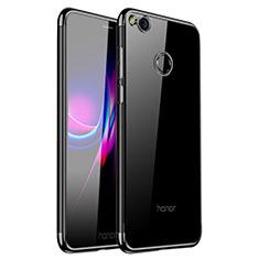 Huawei GR3 (2017)用極薄ソフトケース シリコンケース 耐衝撃 全面保護 クリア透明 H01 ファーウェイ ブラック