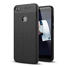 Huawei GR3 (2017)用ケース 高級感 手触り良いレザー柄 ファーウェイ ブラック
