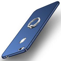 Huawei GR3 (2017)用ハードケース プラスチック 質感もマット アンド指輪 A03 ファーウェイ ネイビー
