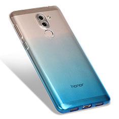 Huawei GR5 (2017)用極薄ソフトケース グラデーション 勾配色 クリア透明 G01 ファーウェイ ネイビー