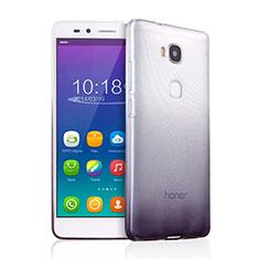 Huawei GR5用極薄ソフトケース グラデーション 勾配色 クリア透明 ファーウェイ グレー