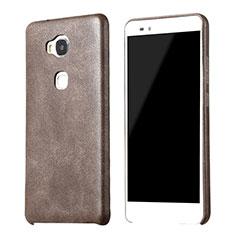Huawei GR5用ケース 高級感 手触り良いレザー柄 ファーウェイ ブラウン