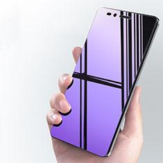 Huawei GR5用アンチグレア ブルーライト 強化ガラス 液晶保護フィルム B01 ファーウェイ ネイビー