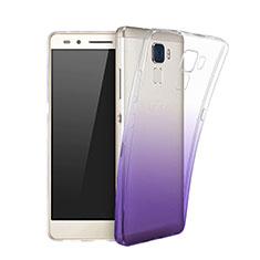 Huawei GT3用極薄ソフトケース グラデーション 勾配色 クリア透明 ファーウェイ パープル