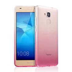 Huawei GT3用極薄ソフトケース グラデーション 勾配色 クリア透明 ファーウェイ ピンク