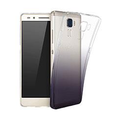 Huawei GT3用極薄ソフトケース グラデーション 勾配色 クリア透明 ファーウェイ ブラック