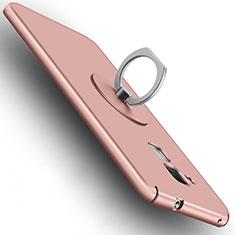 Huawei GT3用ハードケース プラスチック 質感もマット アンド指輪 ファーウェイ ローズゴールド