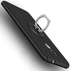 Huawei GT3用ハードケース プラスチック 質感もマット アンド指輪 ファーウェイ ブラック
