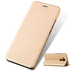 Huawei GT3用手帳型 レザーケース スタンド ファーウェイ ゴールド