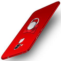 Huawei GT3用ハードケース プラスチック 質感もマット アンド指輪 A02 ファーウェイ レッド