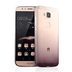 Huawei GX8用極薄ソフトケース グラデーション 勾配色 クリア透明 ファーウェイ ブラウン