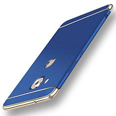 Huawei GX8用ケース 高級感 手触り良い メタル兼プラスチック バンパー M01 ファーウェイ ネイビー